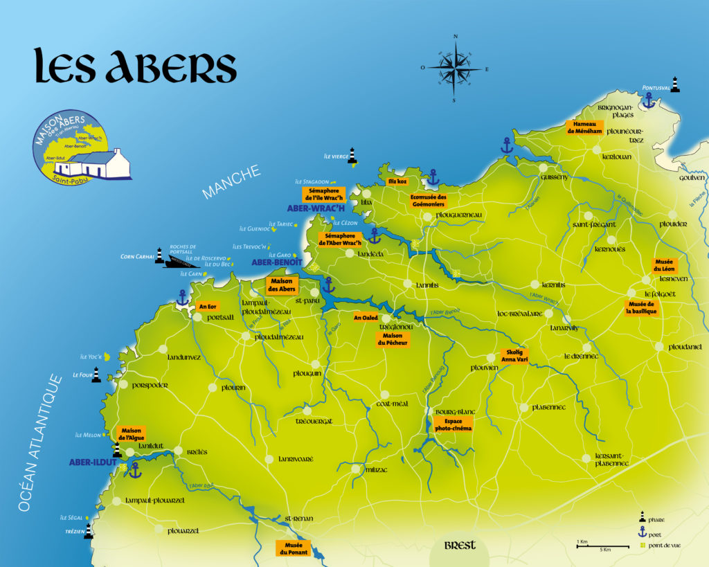 Cartes de localisation des abers