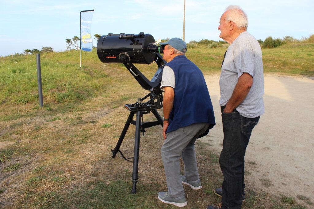 Observation ciel au téléscope