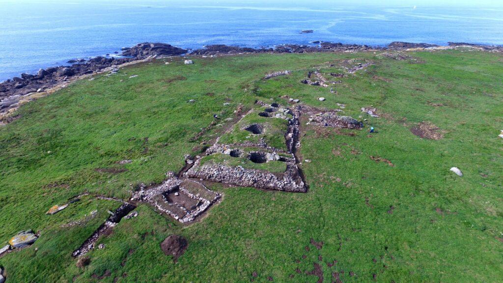 Vue aréienne de l'île Guénioc